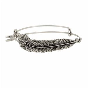 Alex and Ani Silver Plume Feather Bracelet